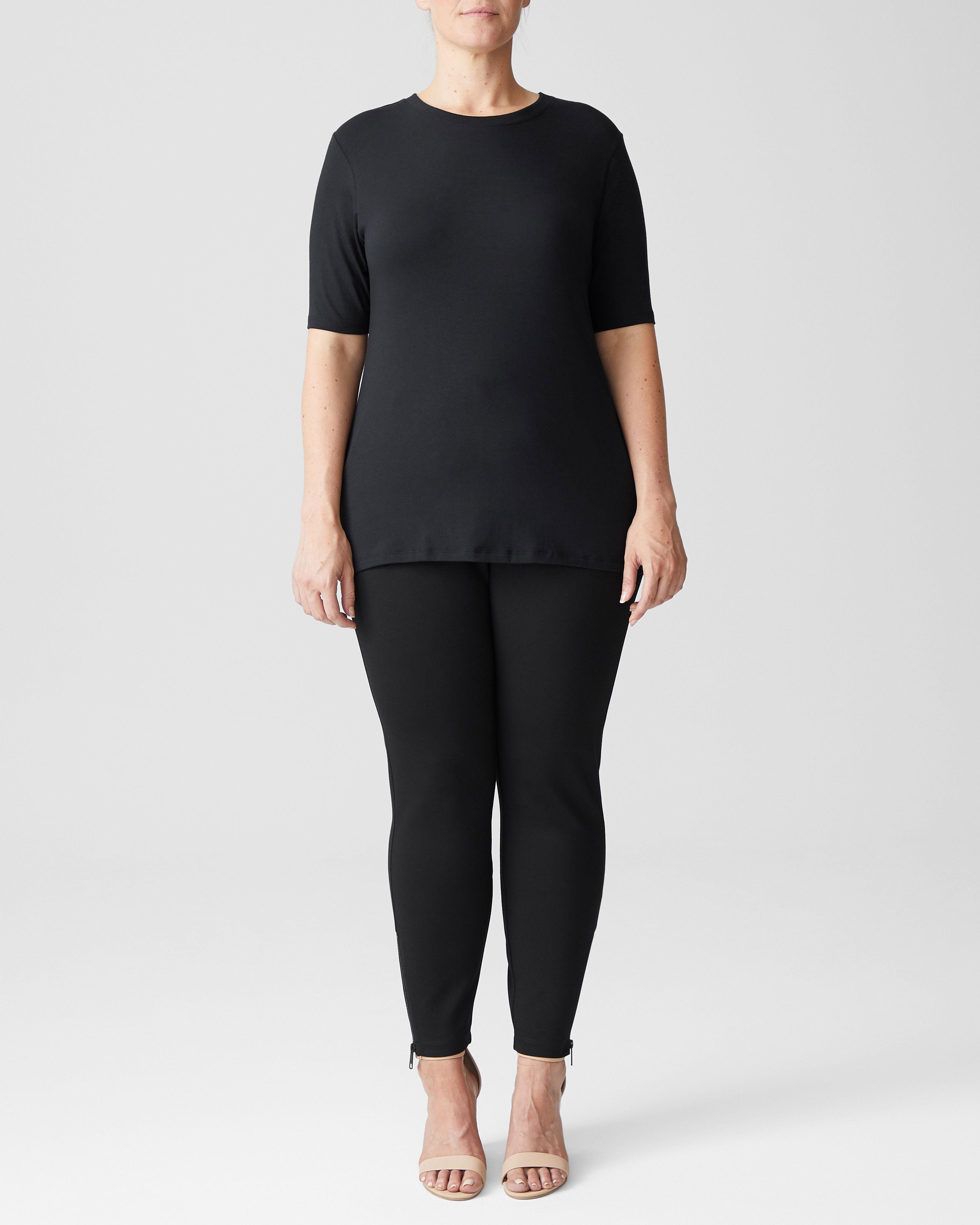 Maia Stovepipe Sleeve Tee - Black