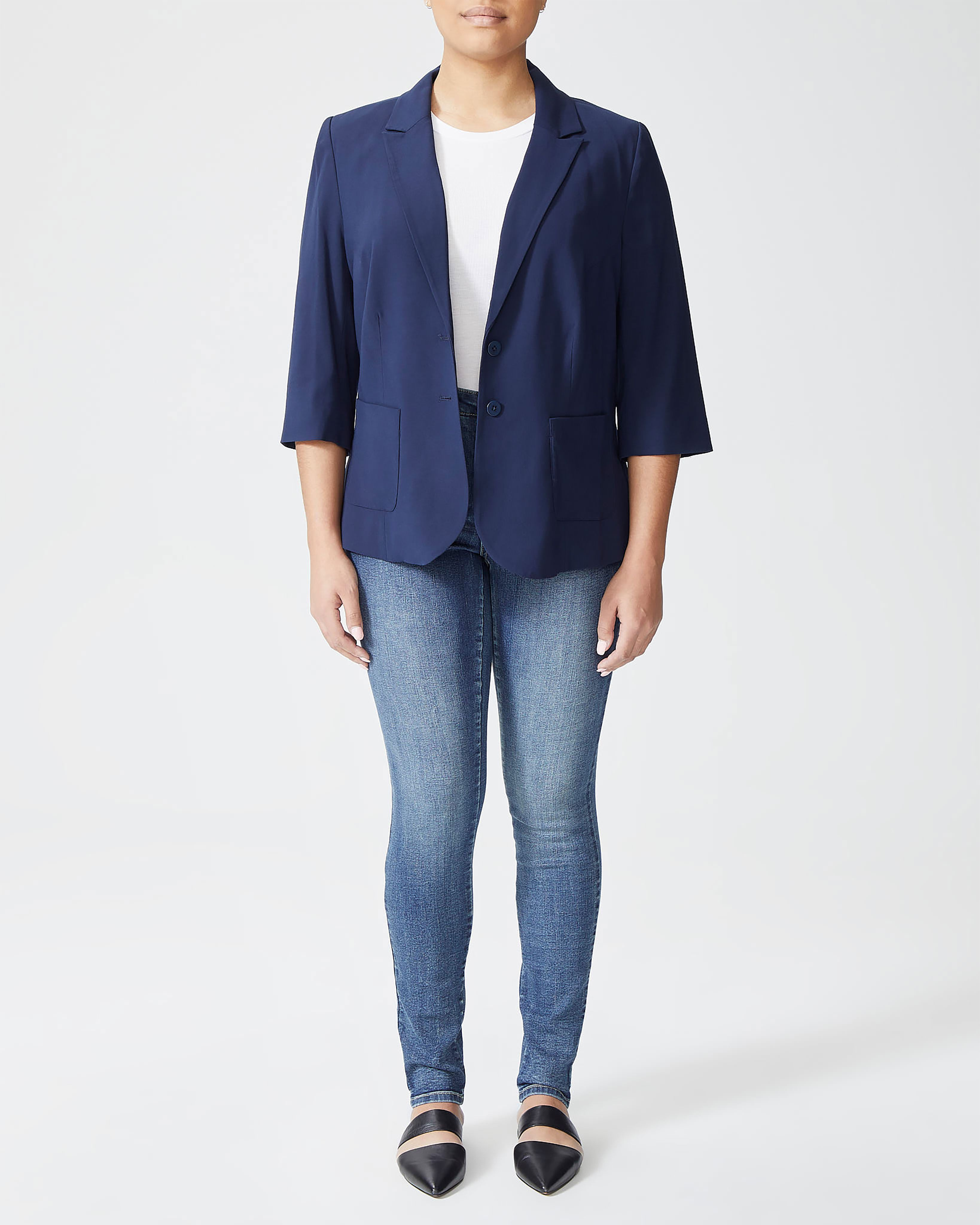 Meg Short Blazer - Navy