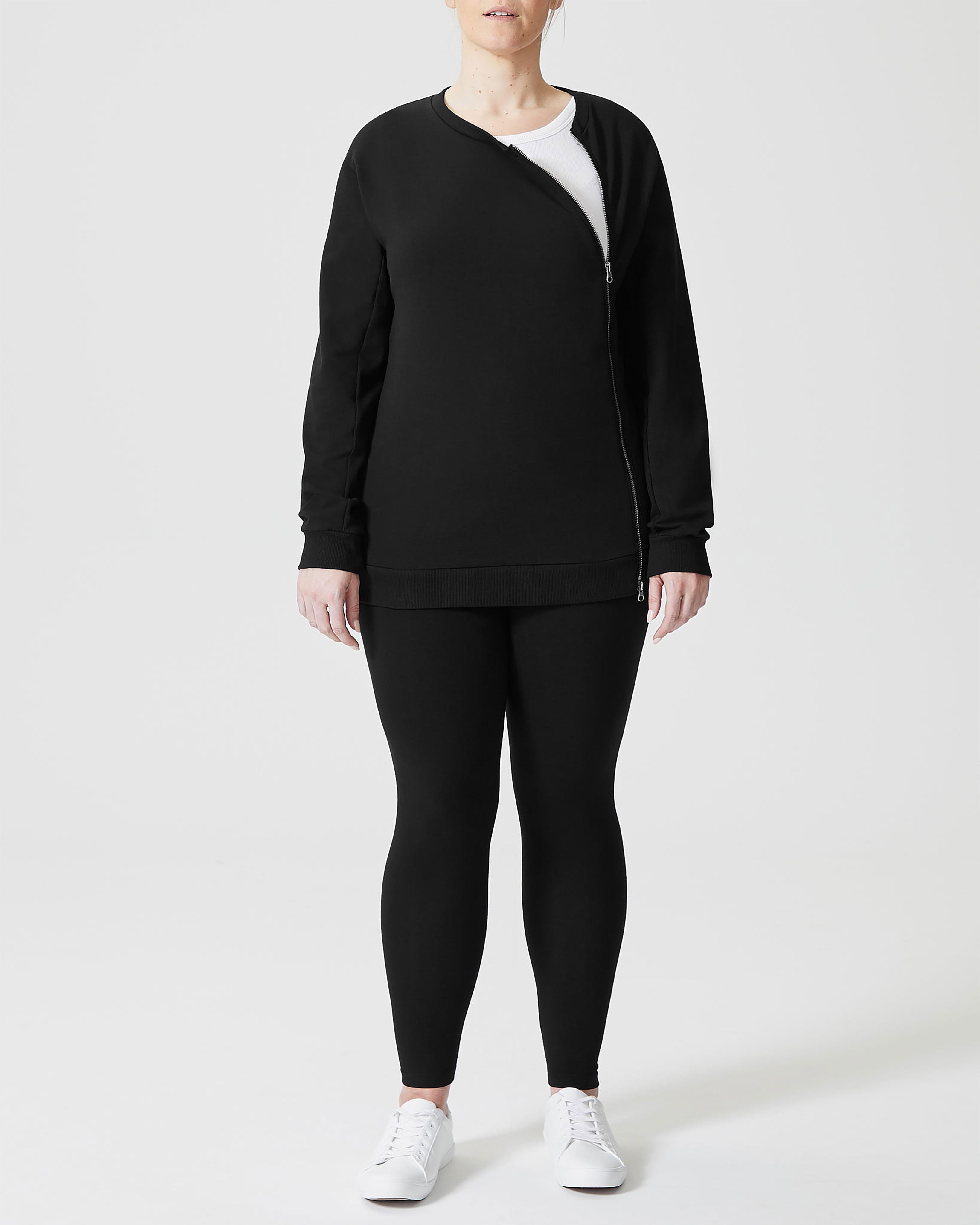 Meridian Zip Pullover - Black