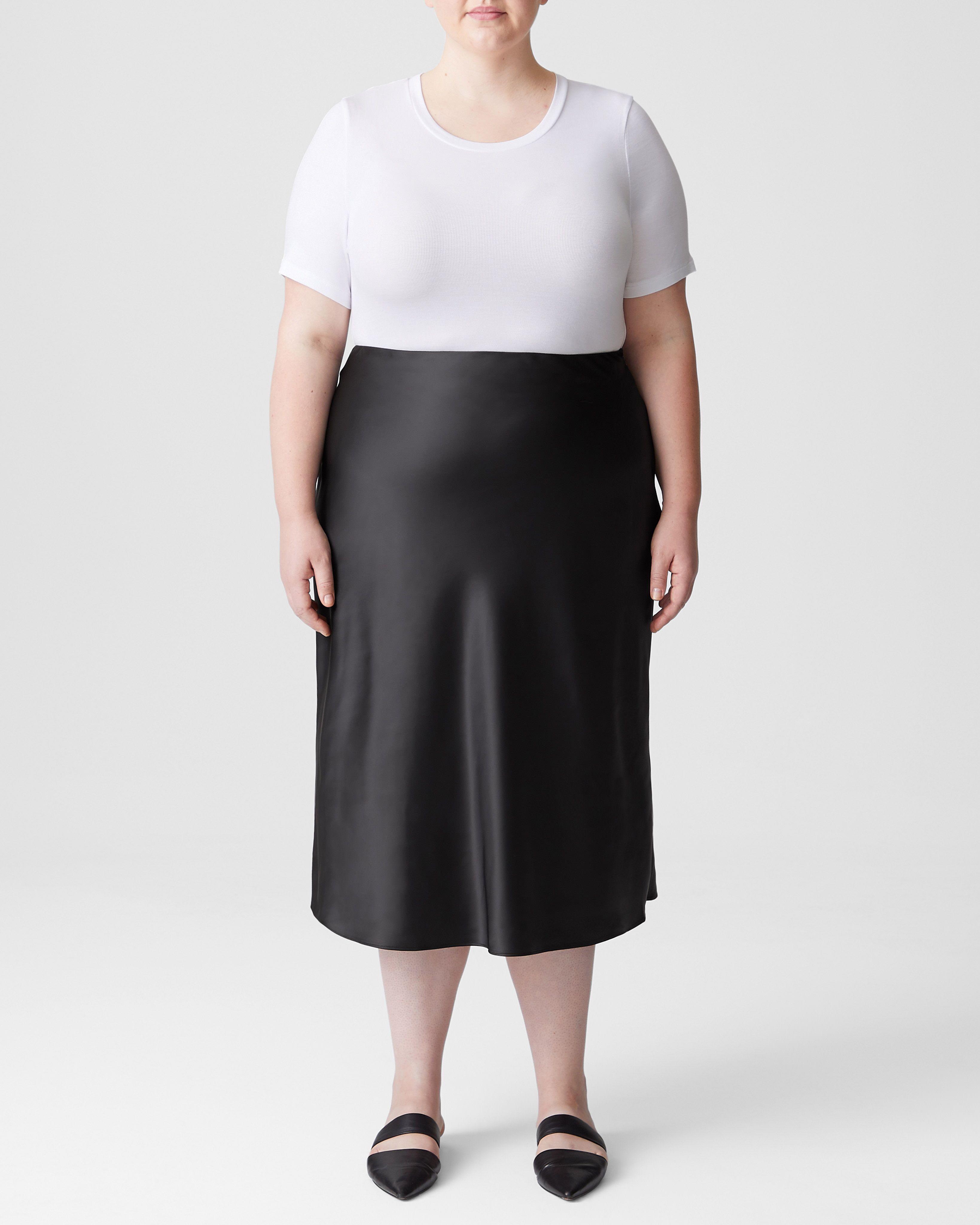 CeeCee Midi Bias Skirt - Black