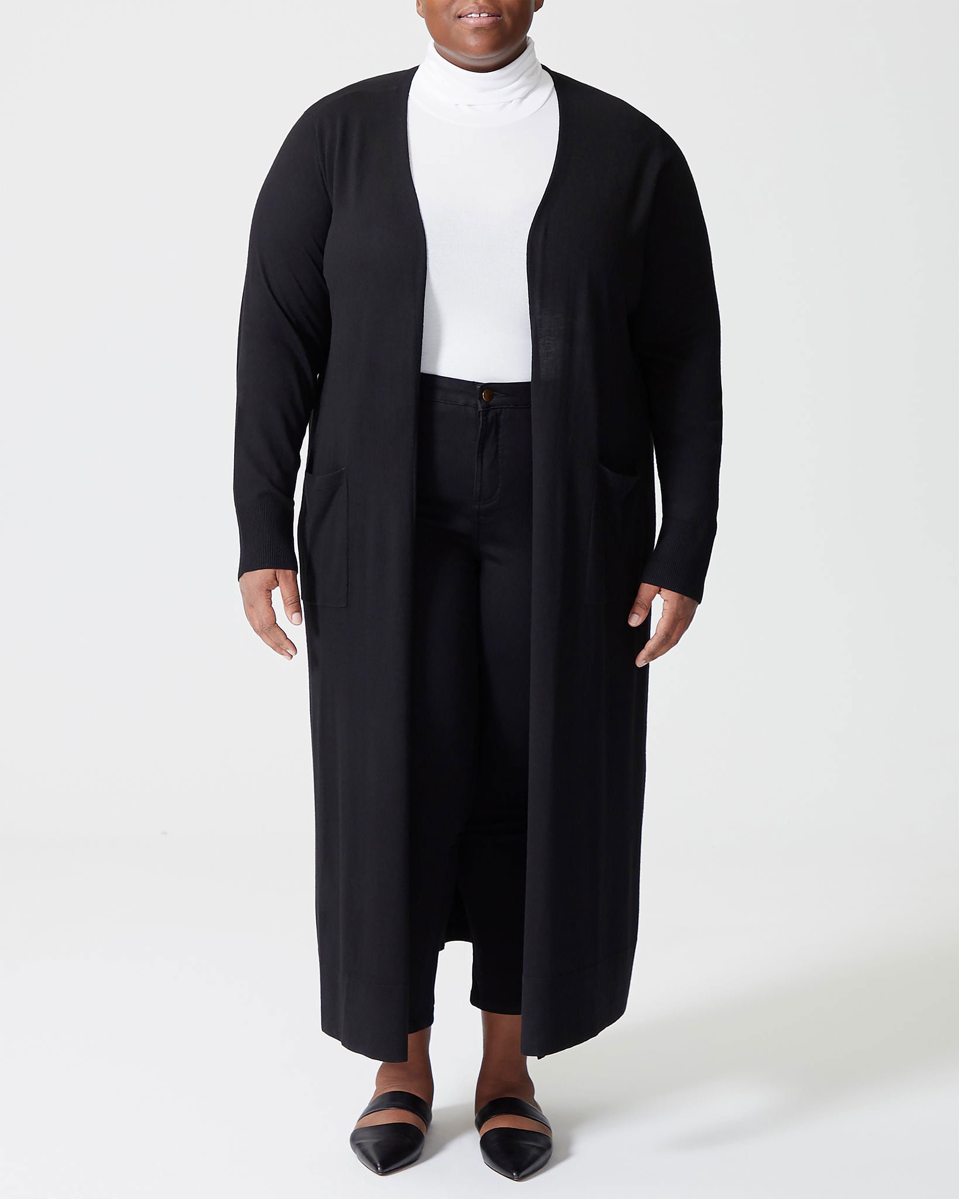 Lennox Long Sweater - Black