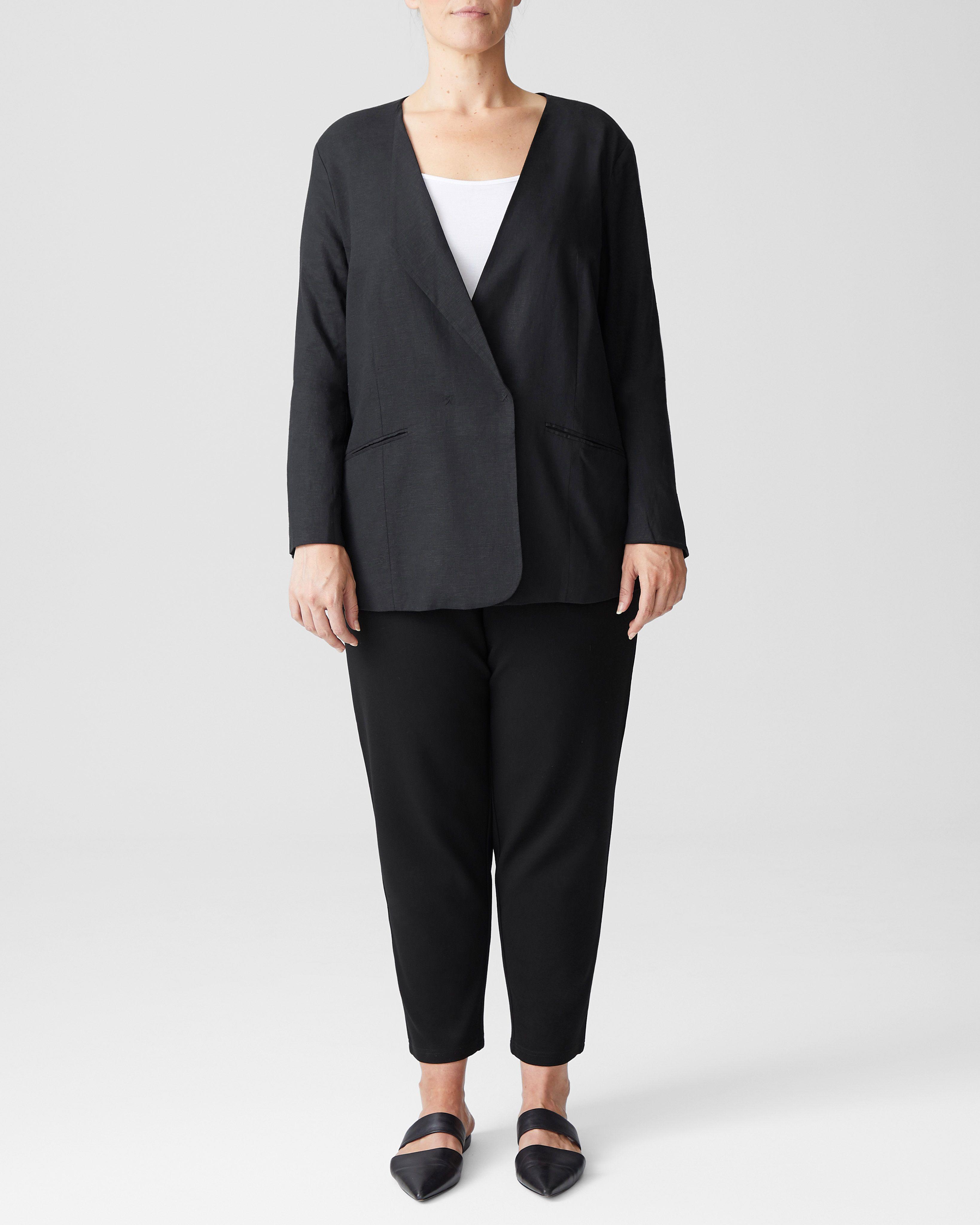 Paloma Linen Blazer - Black