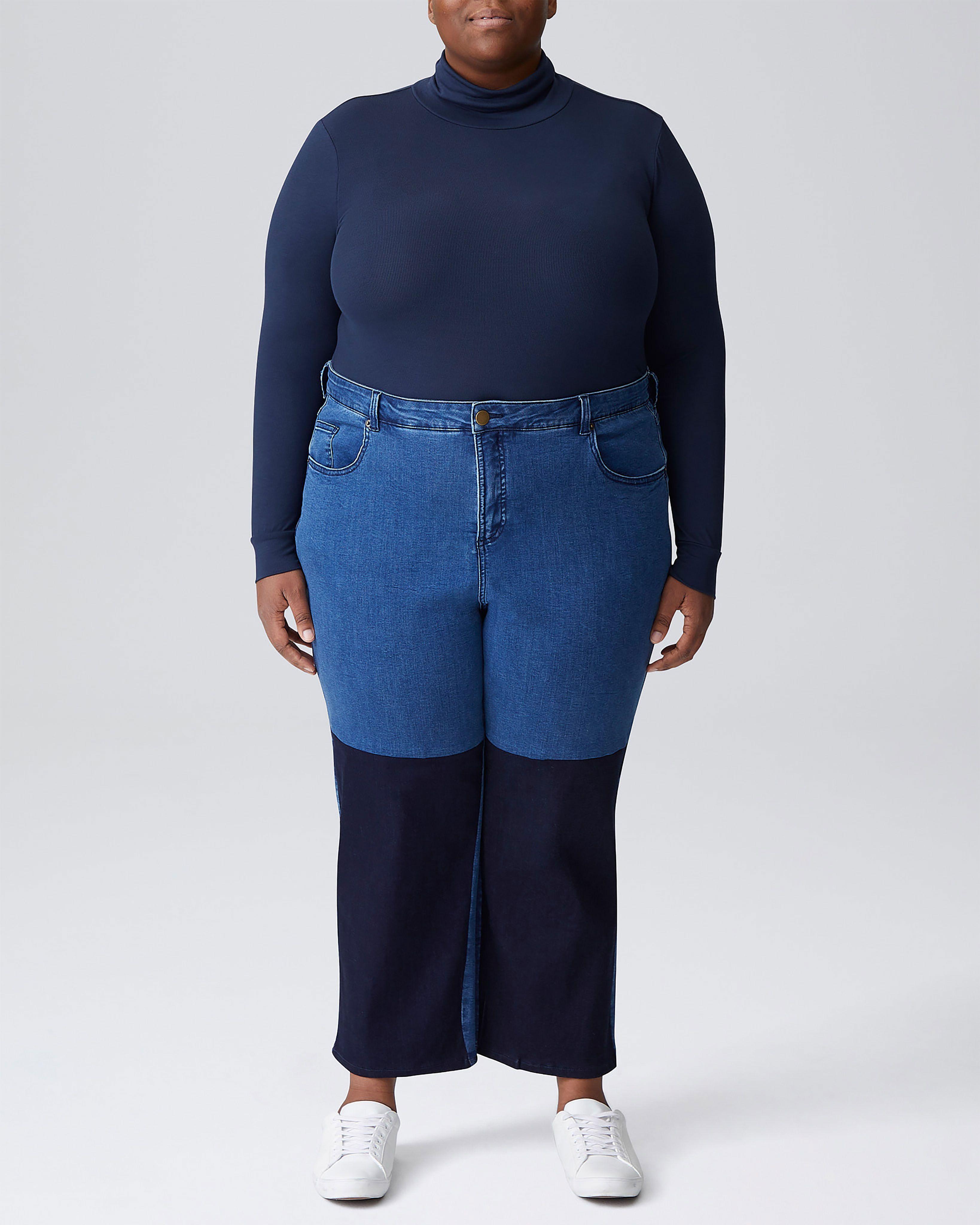 Ravi Colorblock Jeans - Dark Indigo/Blue
