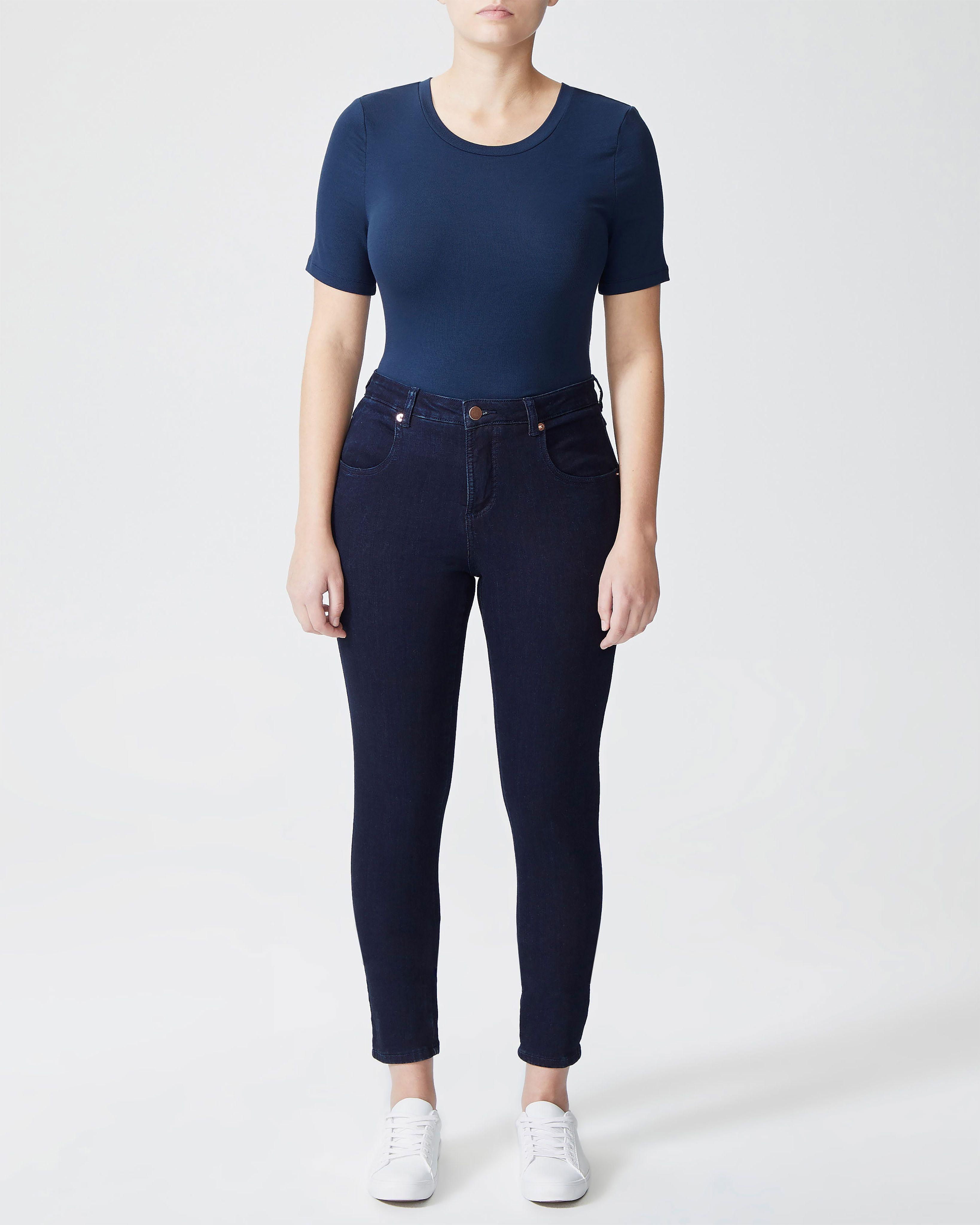 Seine Mid Rise Skinny Jeans 27 Inch - Dark Indigo
