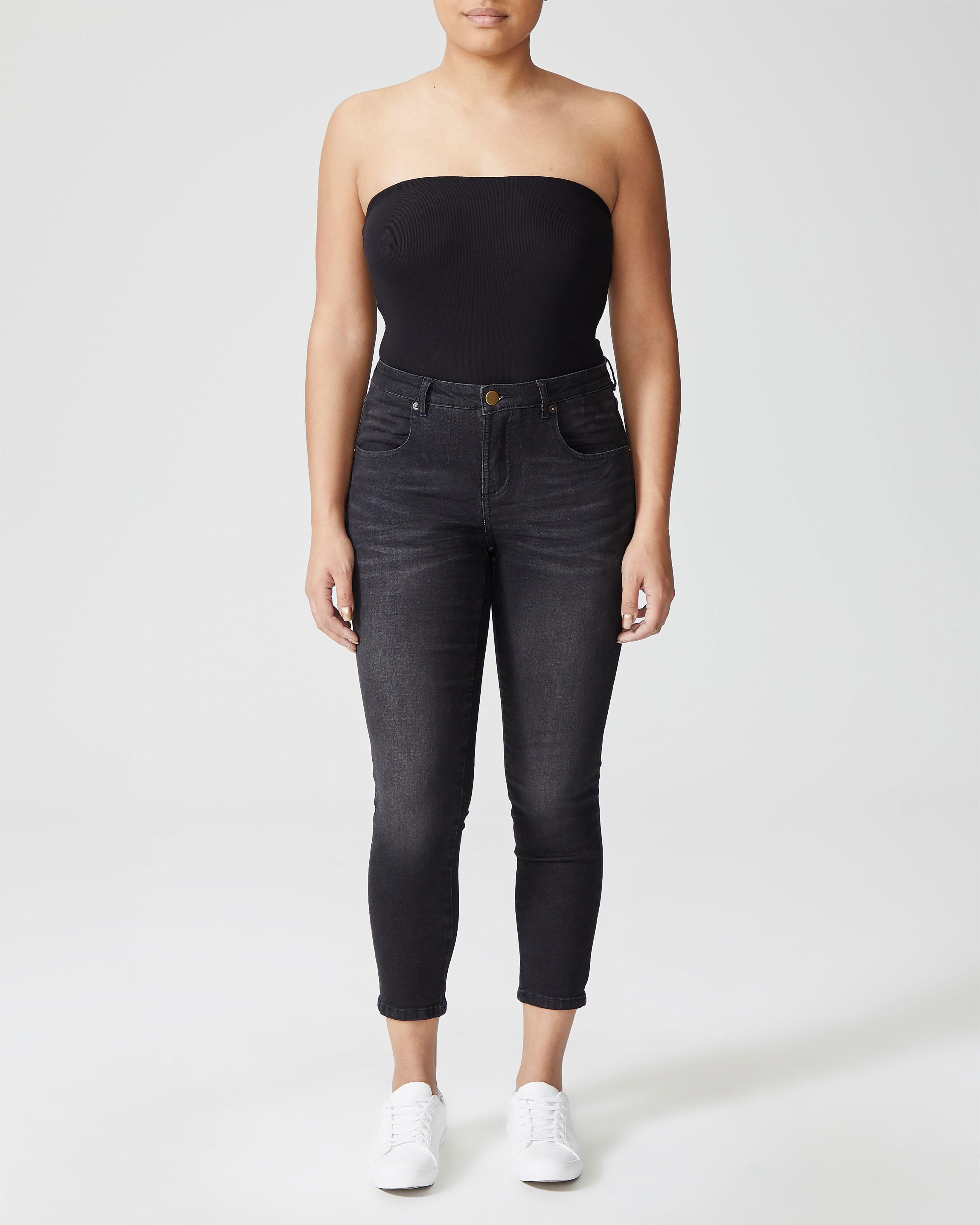 Seine Mid Rise Skinny Jeans 27 Inch - Distressed Black