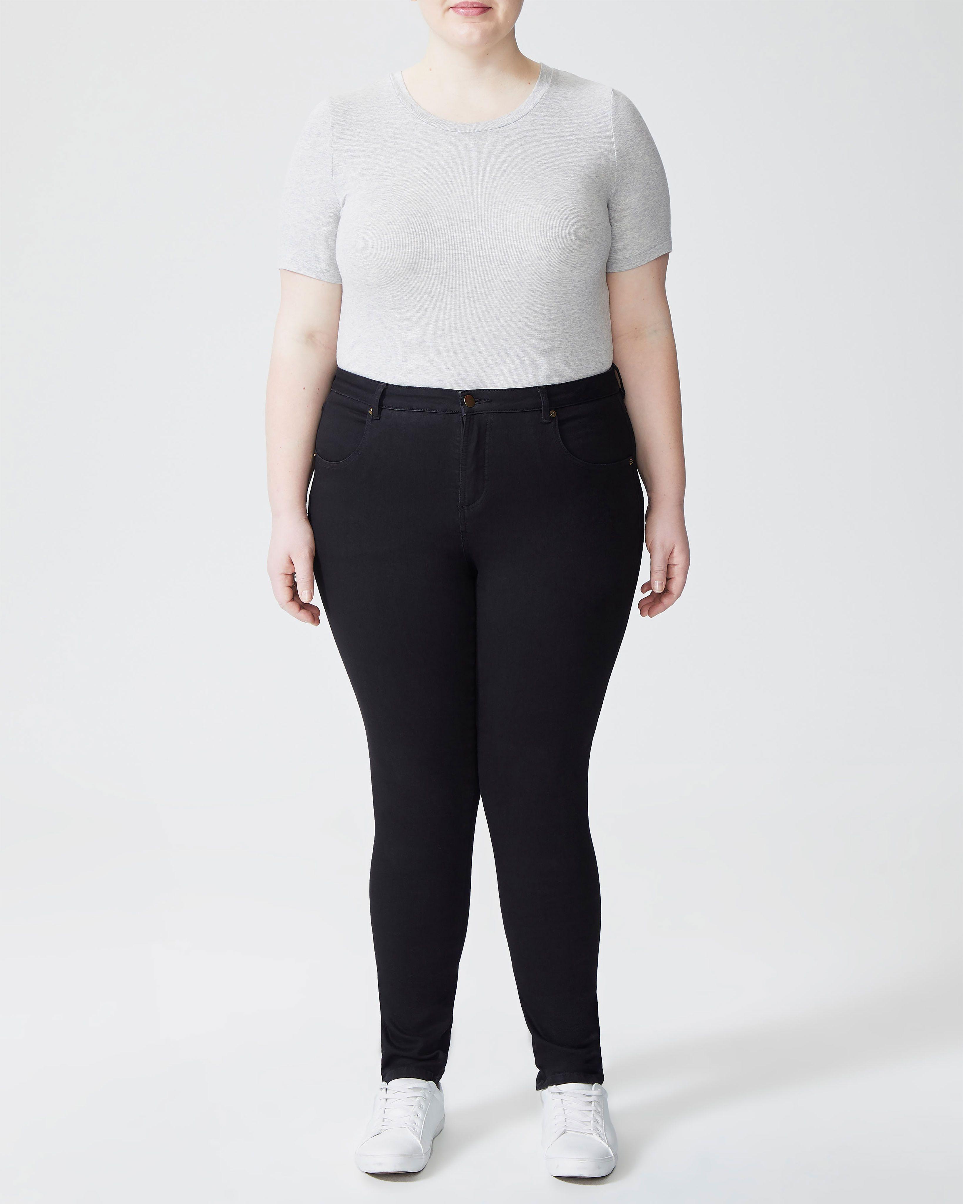 Seine Mid Rise Skinny Jeans 32 Inch - Black