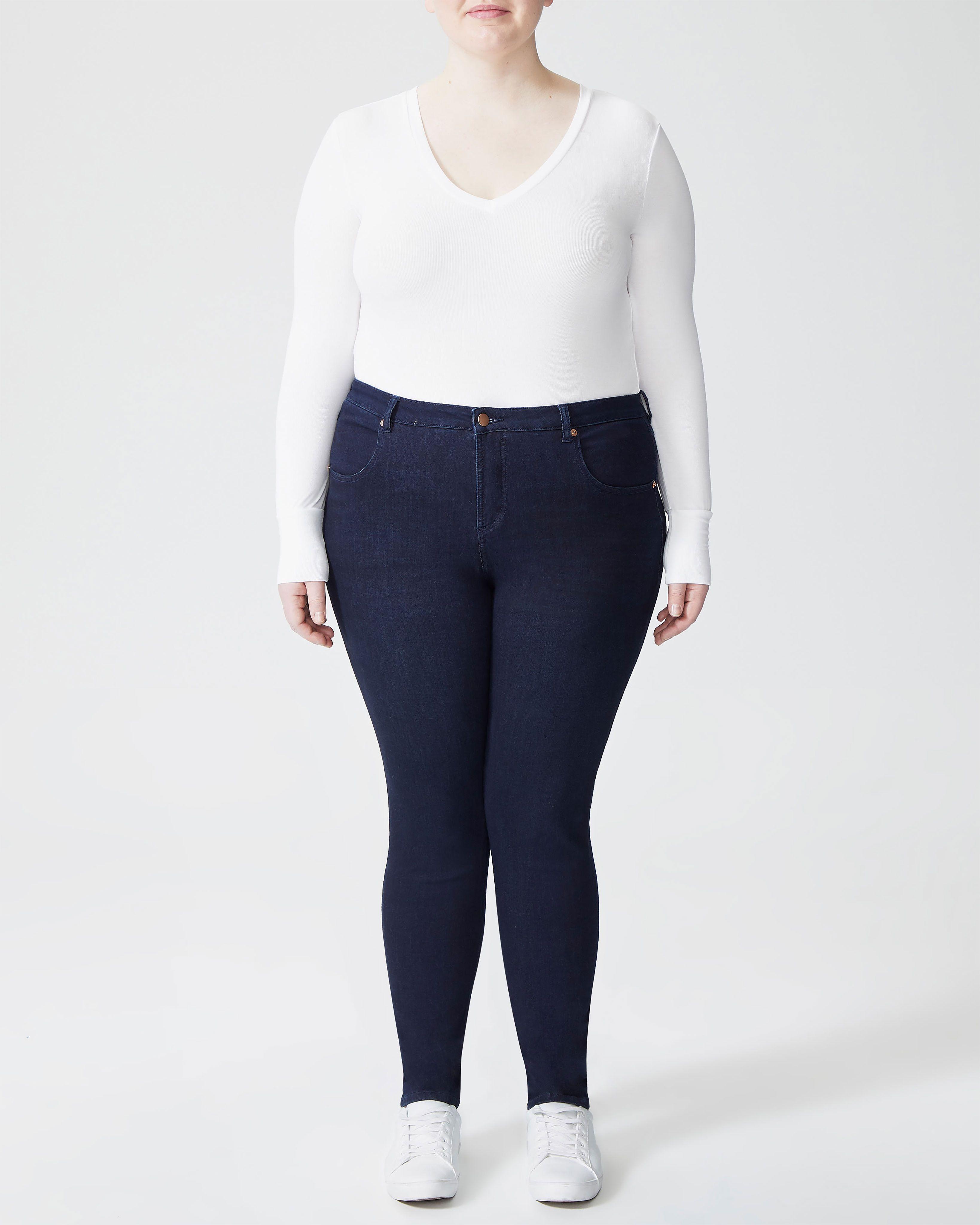 Seine Mid Rise Skinny Jeans 32 Inch - Dark Indigo