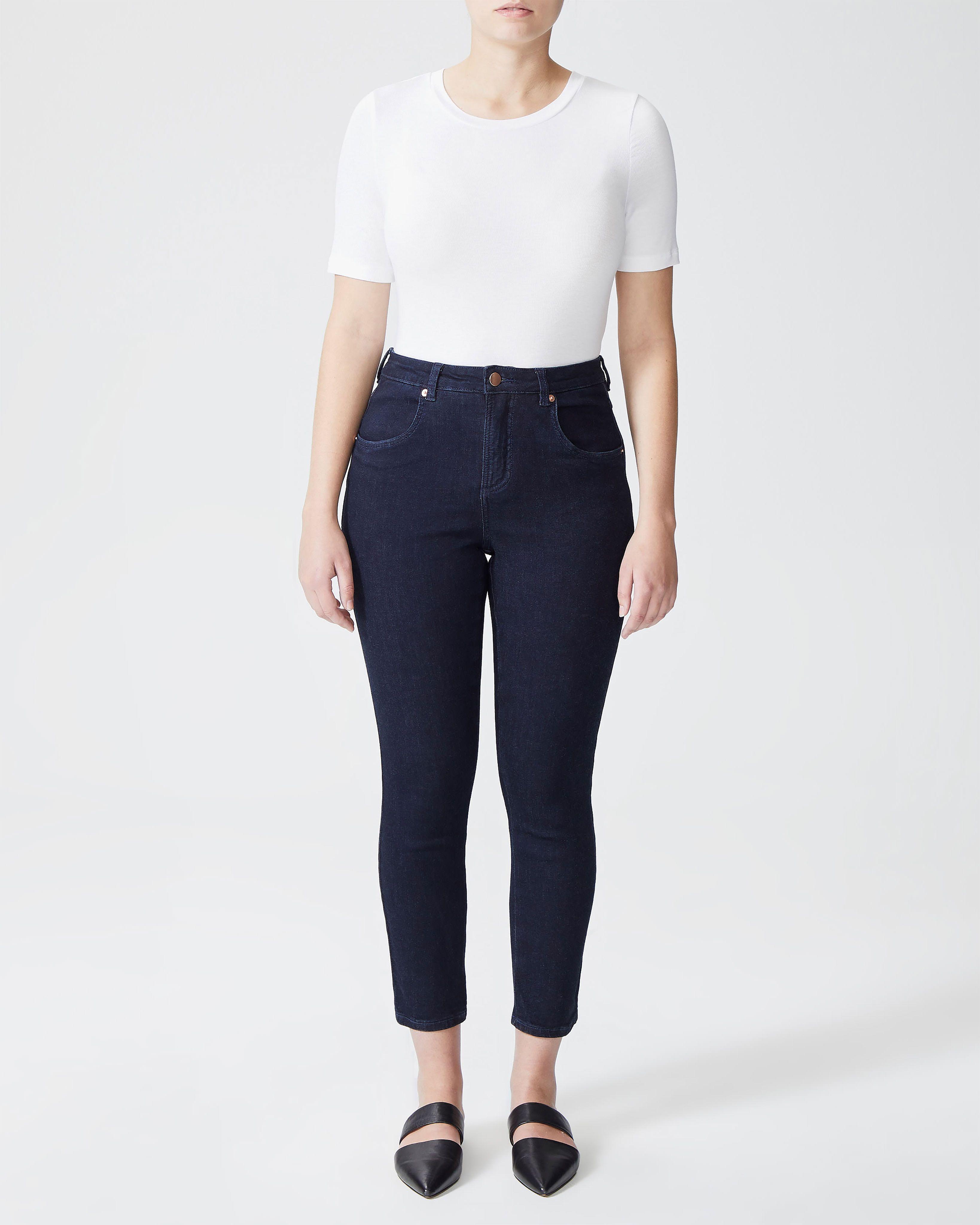 Seine High Rise Skinny Jeans 27 Inch - Dark Indigo