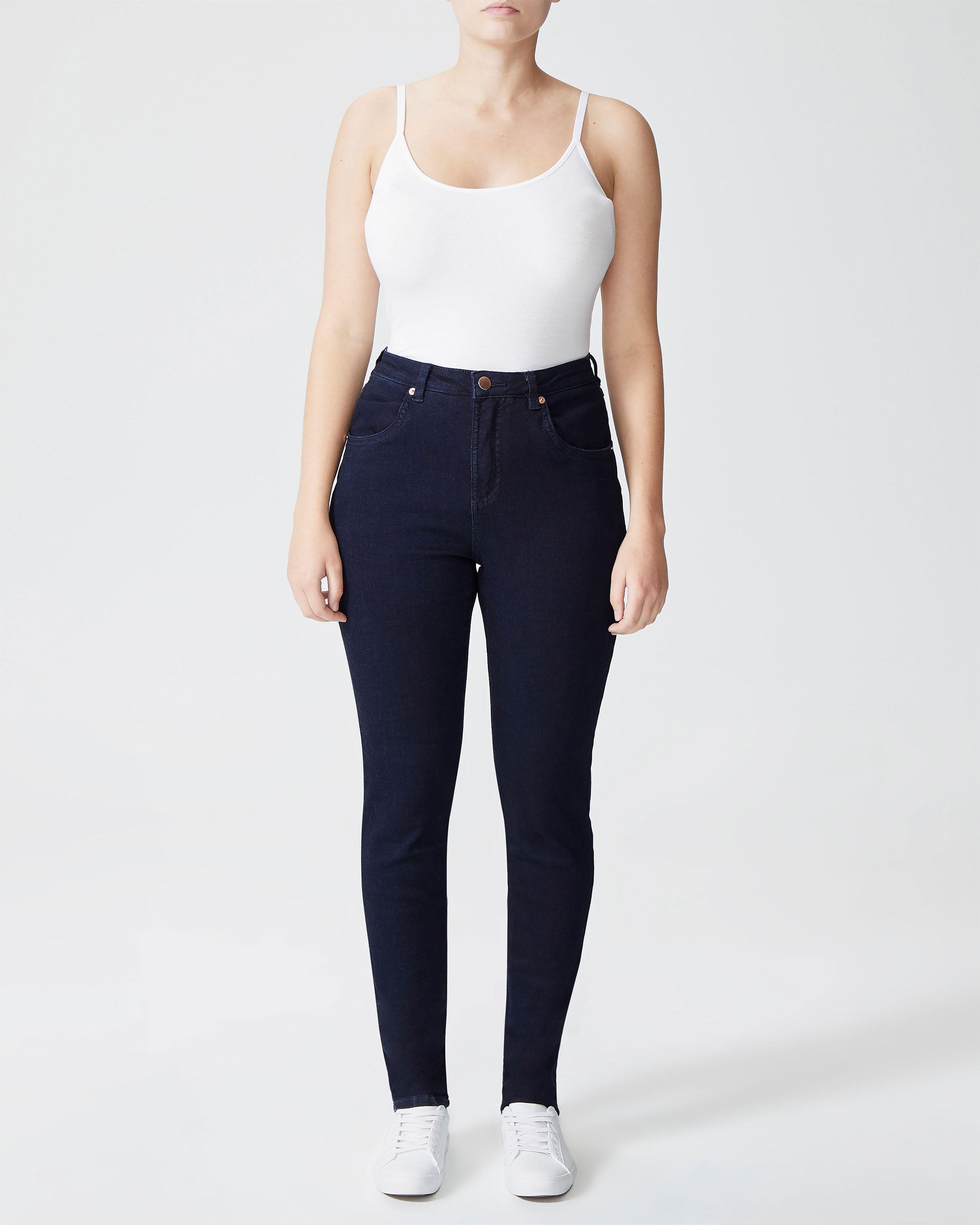 Seine High Rise Skinny Jeans Petite - Dark Indigo