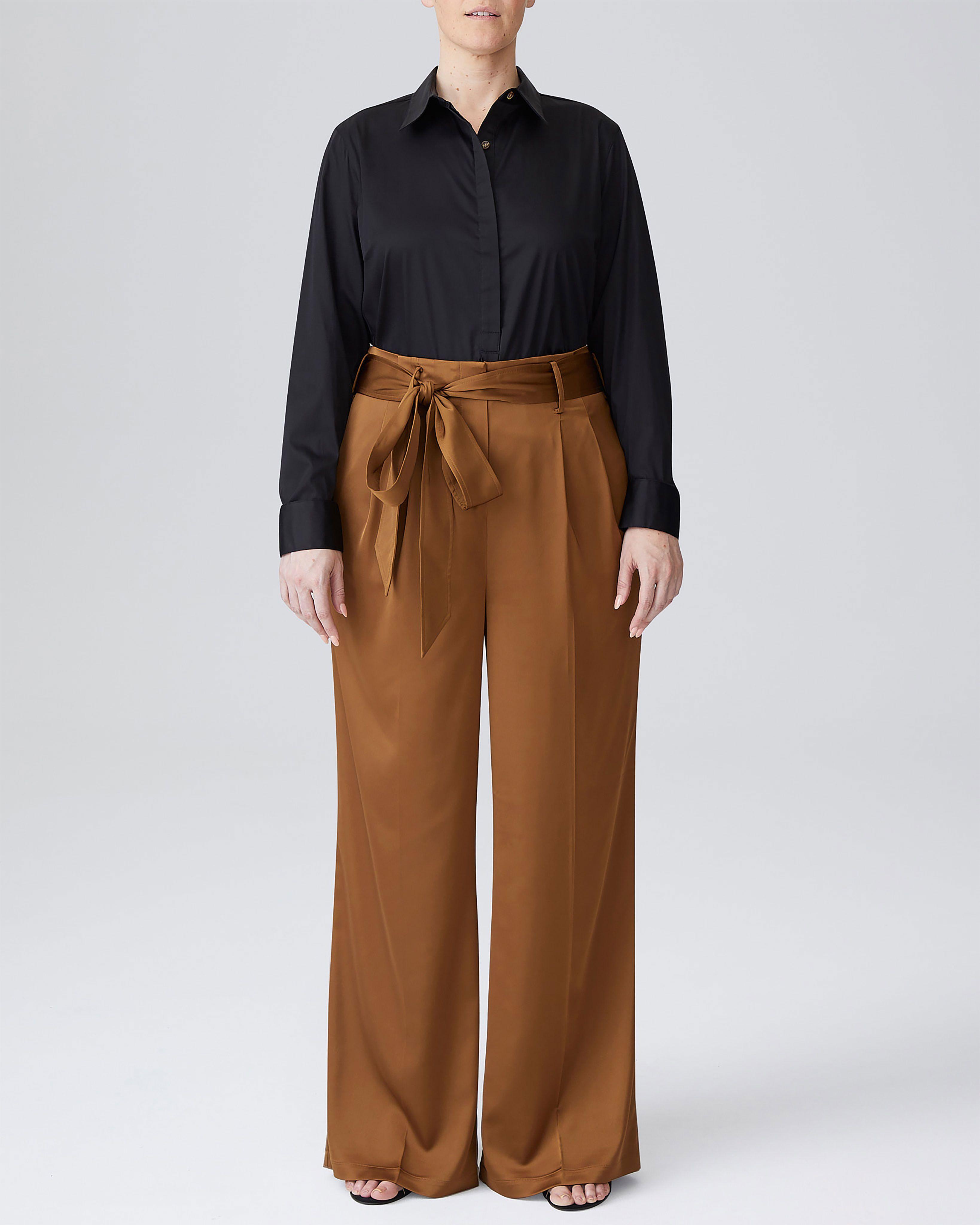 Tresa Wide Leg Tie Pants - Navy